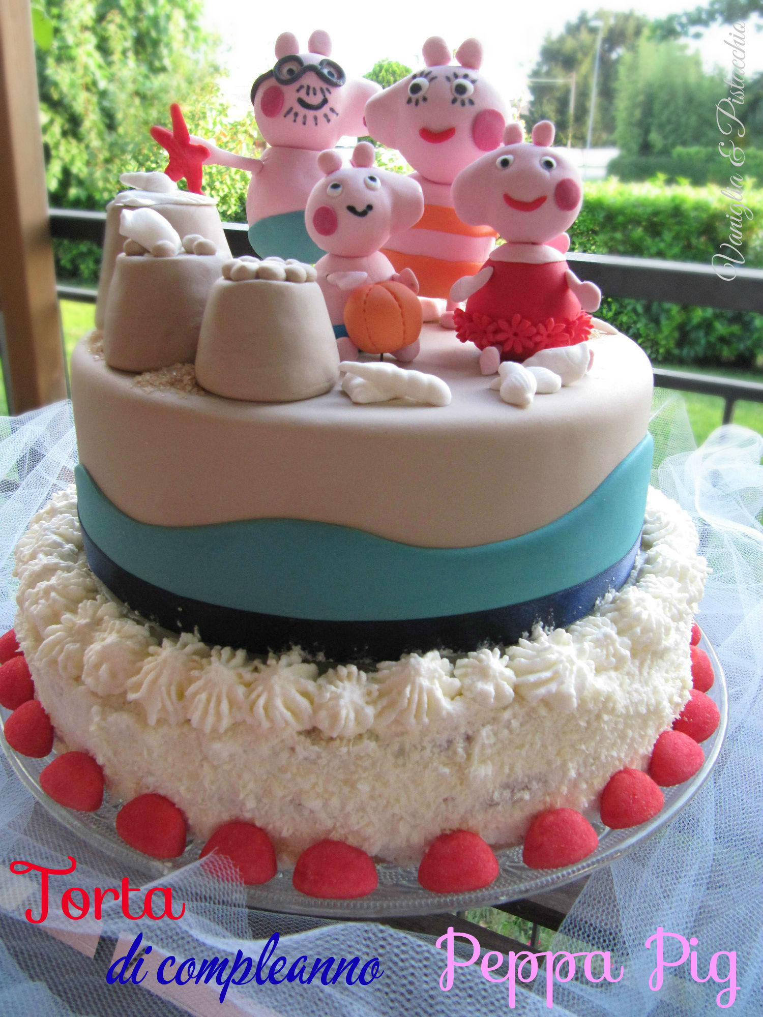 Torta Di Compleanno Peppa Pig Vaniglia E Pistacchio