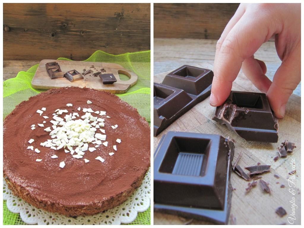 Mousse al cioccolato e crema al formaggio