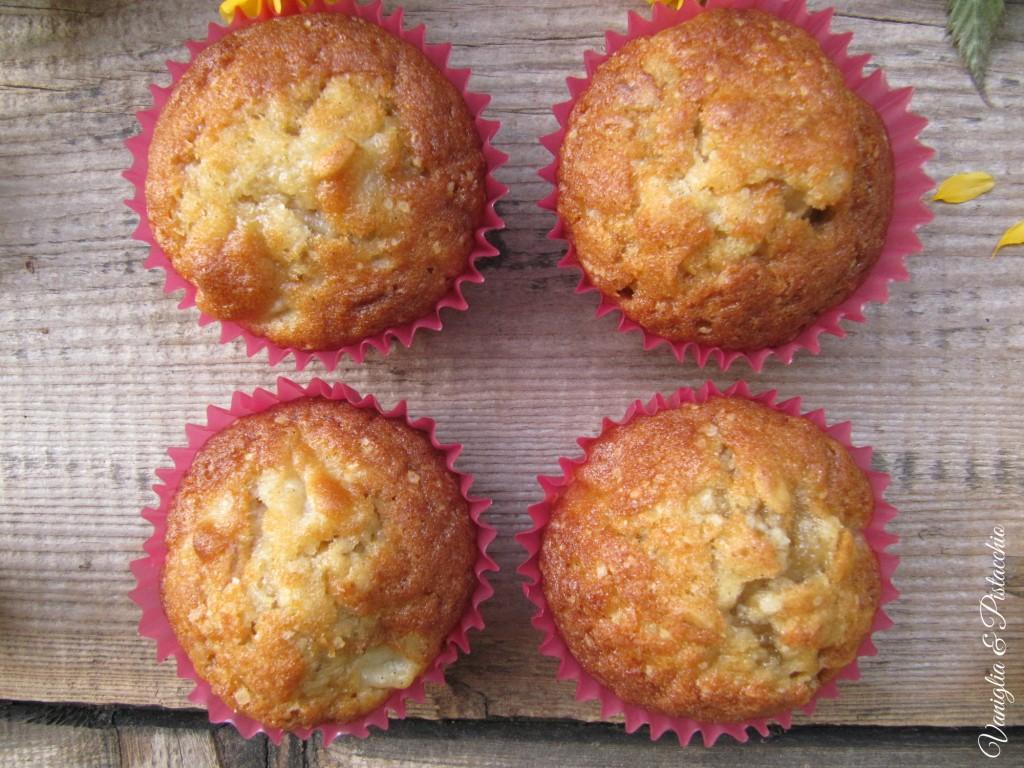 muffins pere e fiocchi d'avena