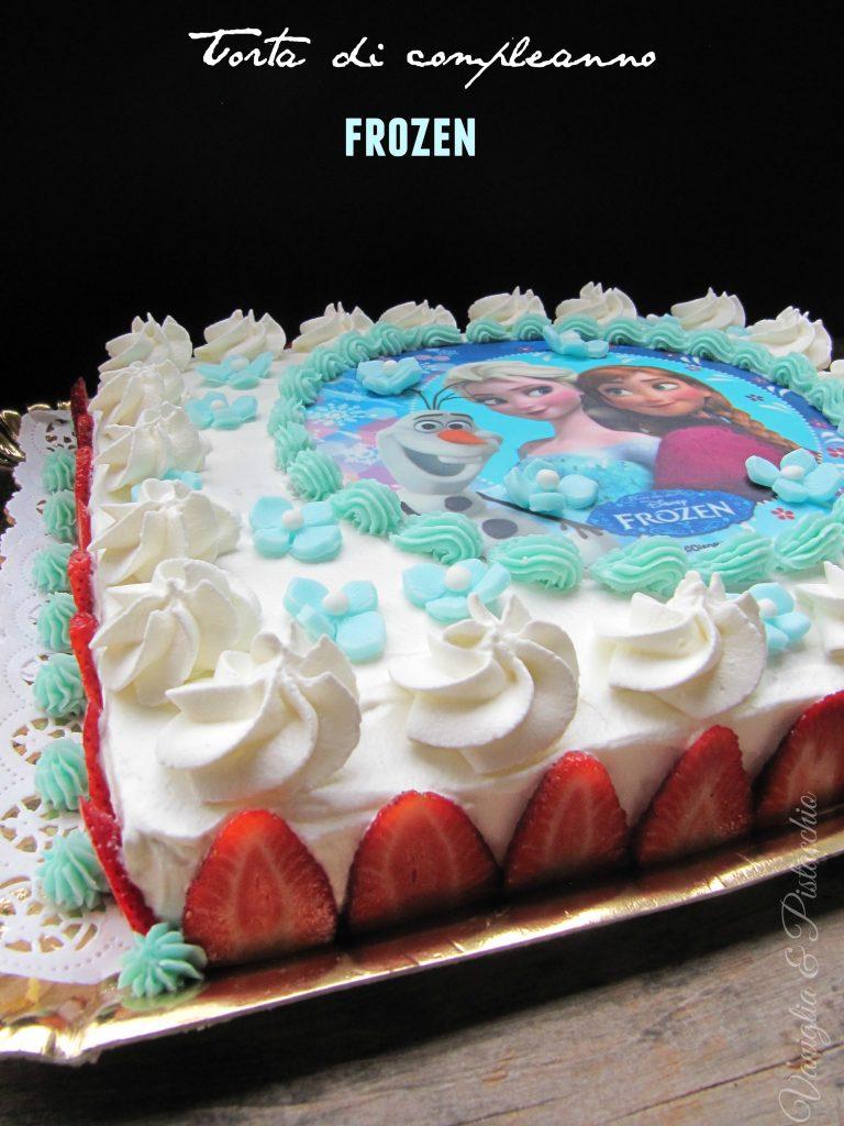 Torta di compleanno a tema Frozen