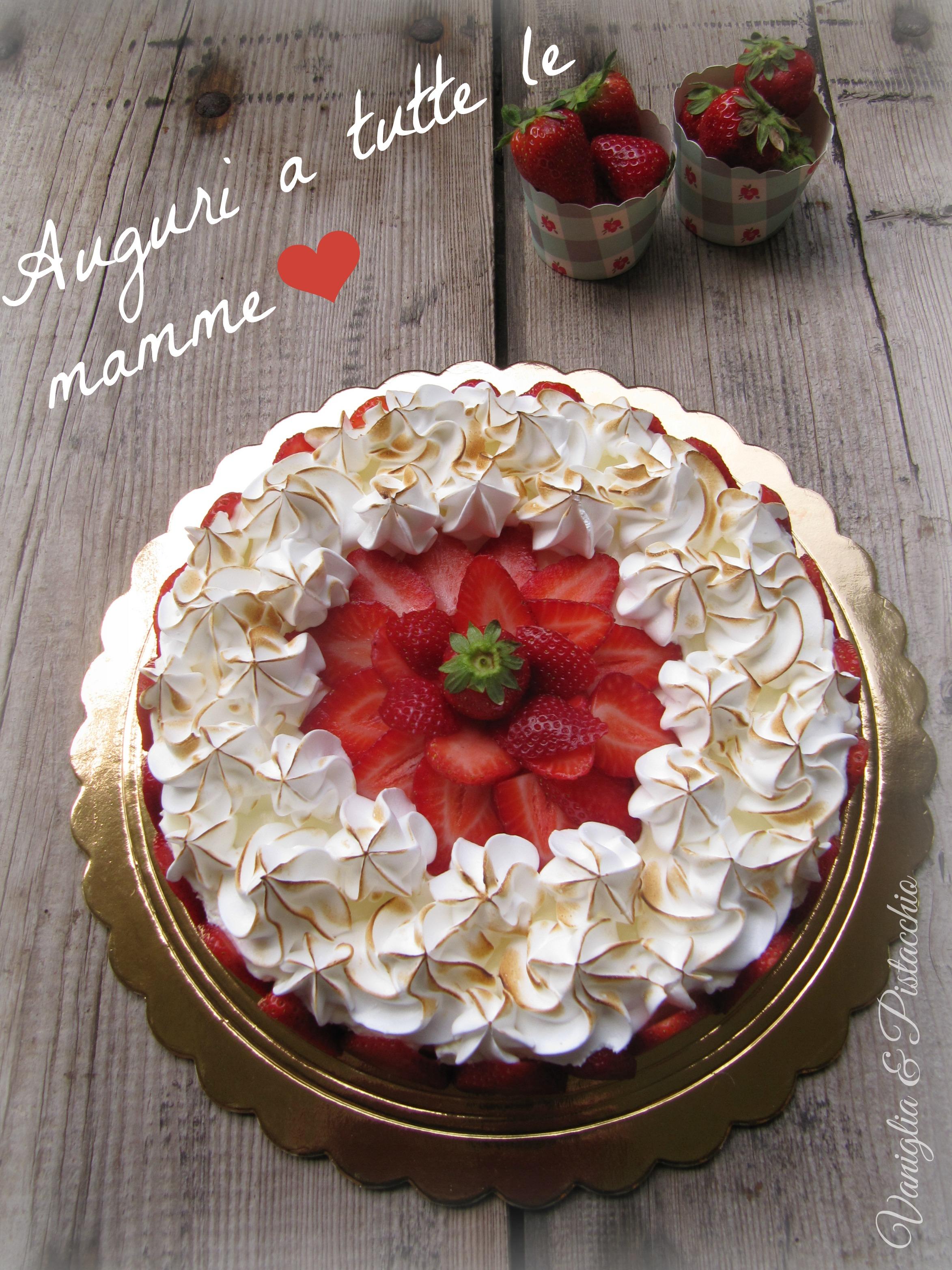 Ricetta Meringhe E Fragole.Cheesecake Meringa E Fragole Vaniglia E Pistacchio