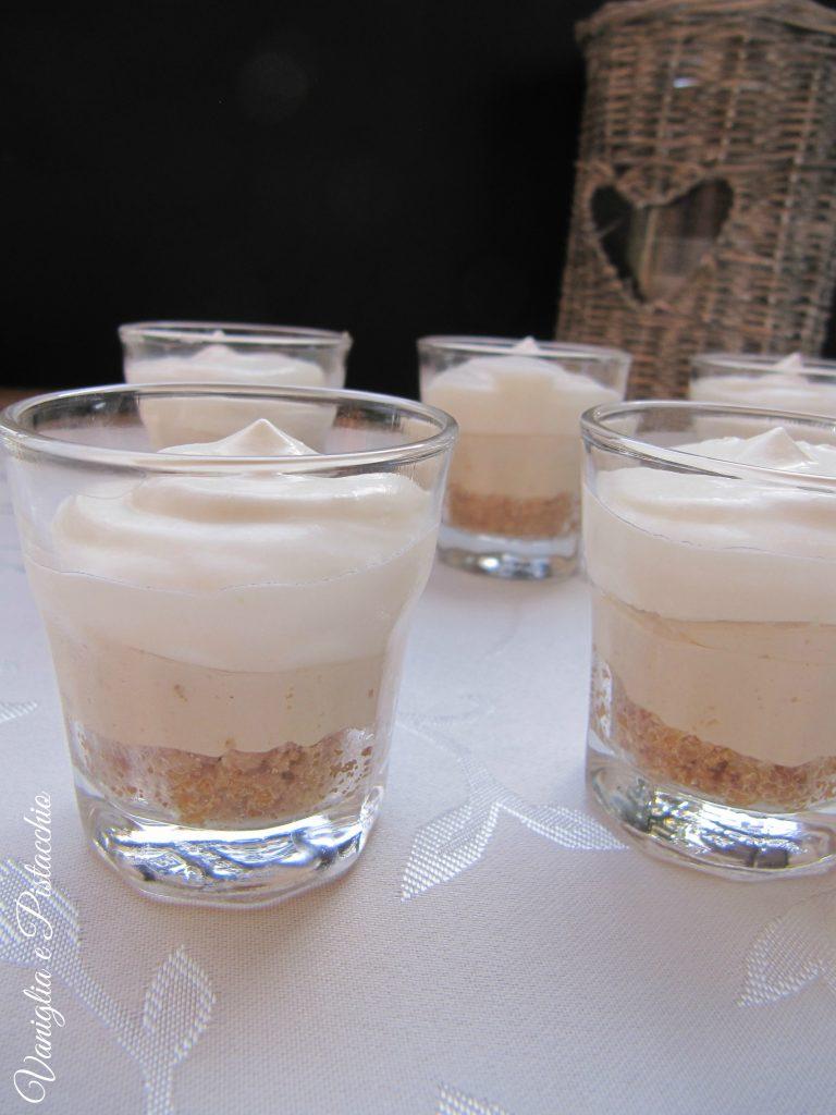 bicchierini di cheesecake al caffè