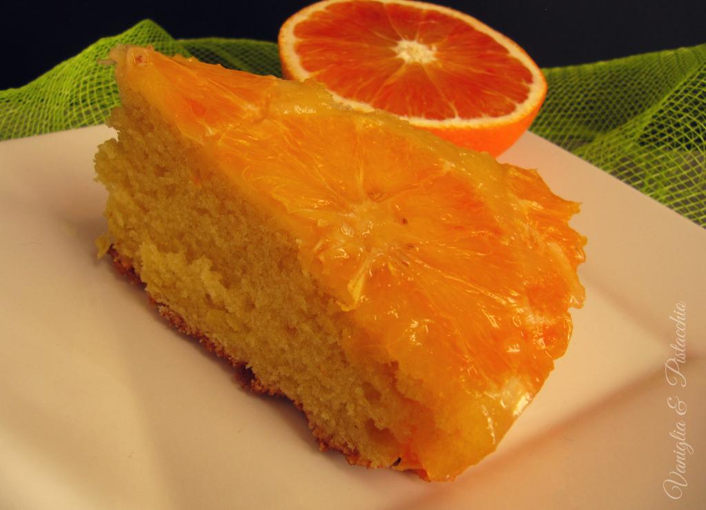 torta rovesciata all'arancia con caramello