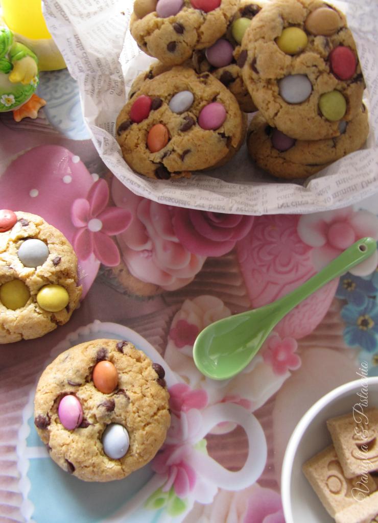ricetta cookies agli smarties